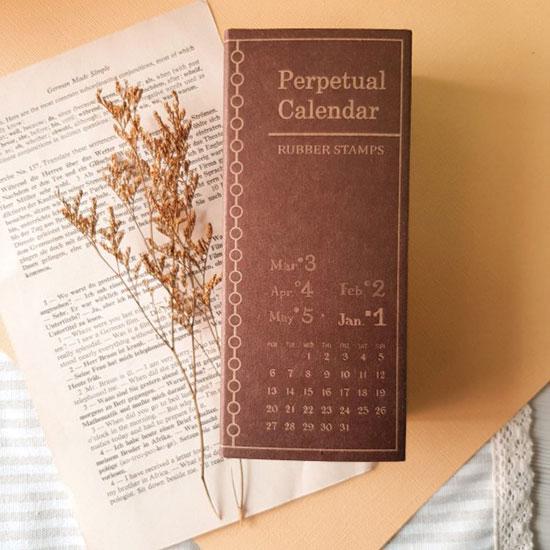 Micia Perpetual Calendar Stamp Set By